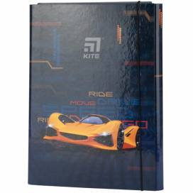 Папка Kite A4 картон на резинке K20-213-02 Fast Cars для труда