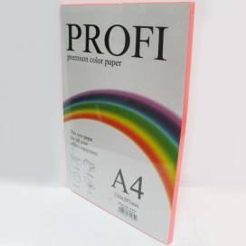 Бумага цв  А4/80 100л PROFI 342 Cyber Pink( неон розовый)