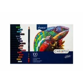 Кольорові олівці Marco подарункові 100цв. 8010-100CB Chroma