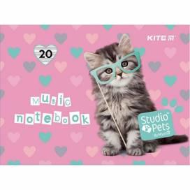Тетрадь для нот Kite Studio Pets А5 20 листов SP21-405 альбомный формат