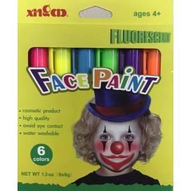Краска для лица Colorino  6цв XD110228 флюор.
