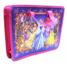 Портфель Leader с ткан.ручками на молнии 211090 принцесы  33*26*8