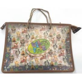 Портфель Bourgeois А4 для школы на молнии, пластик 600мкм цветной плотные тканевые ручки 820248