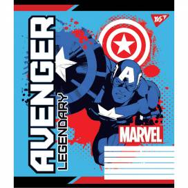 Зошит для школи 12арк. кольорова обкладинка коса лінія Avengers Legends 765367 від виробника YES Україна