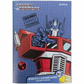 Картон белый Kite А4 10л Transformers TF21-254