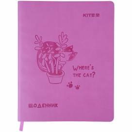 Дневник Kite K21-283-2 Where the cat? мягкая обл.