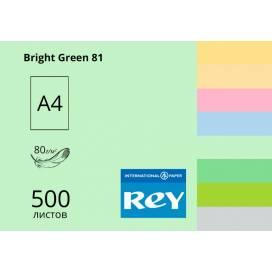 Бумага цв А4/80 500л REY Adagio средн Bright Green 81 ярко-зеленый