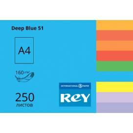 Бумага цв А4/160 250л REY Adagio инт Deep Blue 51 темно-синий
