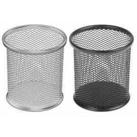 Подставка для ручек DK метал круглая 802В чёрн/сереб