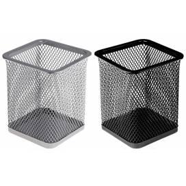 Подставка для канцелярии DK метал квадрат 804В чёрн/сереб