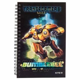 Блокнот Kite А5 80л TF19-225 клетка Спираль сбоку Transformers BumbleBee Movie