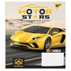 Зошит для школи 12арк. кольорова обкладинка лінія Motor stars 765363 від виробника YES Україна
