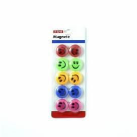 Магниты для доски Klerk 10шт 3см KL82 смайлики