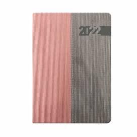 Ежедневник TM Leo Planner А5 252121 Integro 352 стр дат розовый/серый